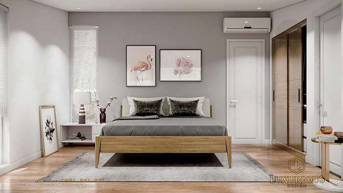 Bản thiết kế nội thất biệt thự 3D phòng ngủ