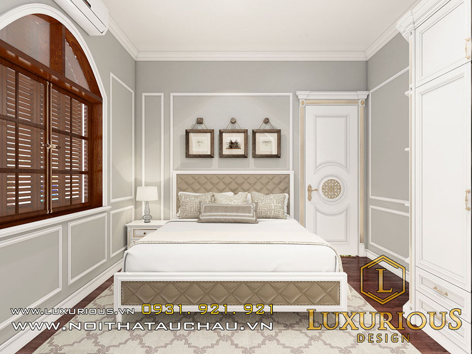Mẫu phòng ngủ tân cổ điển nhẹ nhàng