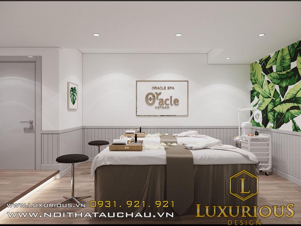 Thiết kế nội thất thẩm mỹ viện oracle