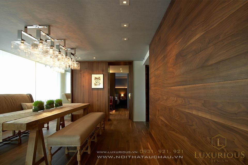 Thiết kế thi công nội thất phòng ăn chung cư cao cấp