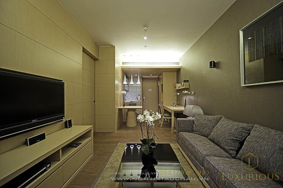 Thi công nội thất chung cư mini 60m2 tại cầu giấy