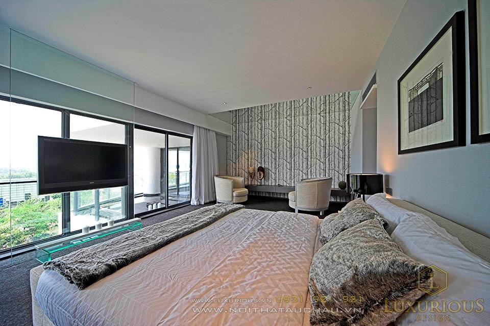 Phòng ngủ Penthouse tinh tế sang trọng, tiện nghi