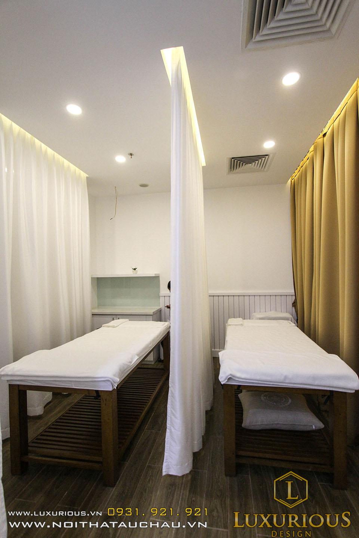 Thi công nội thất giường massage spa