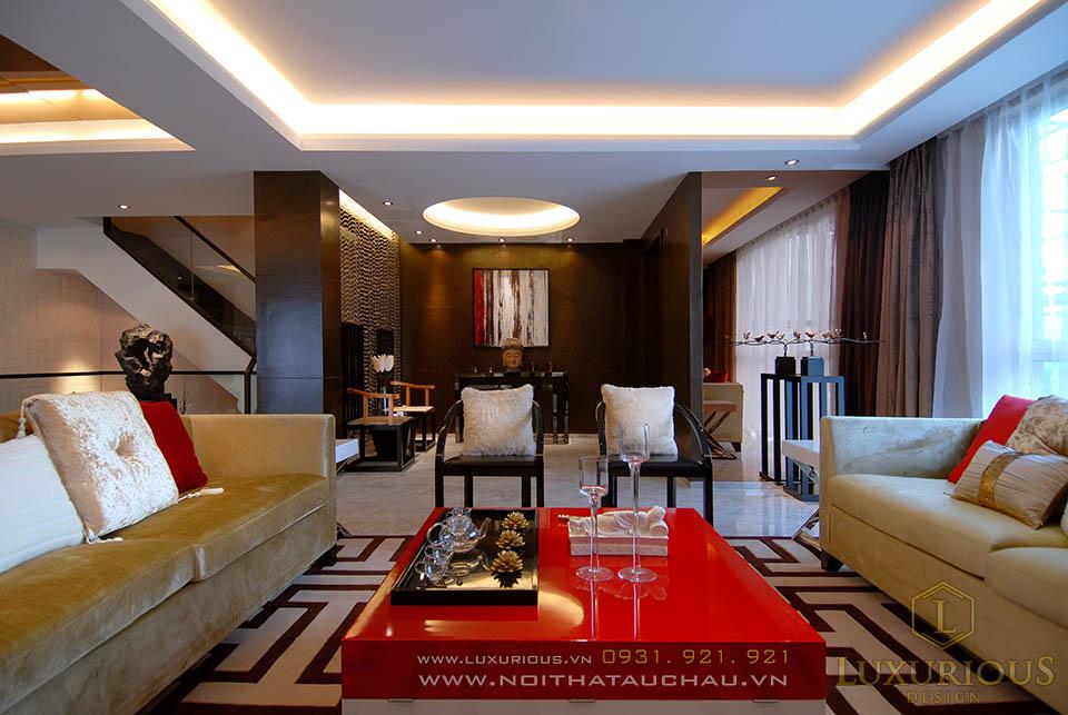 Thiết kế thi công nội thất nhà lô phố 2 tầng