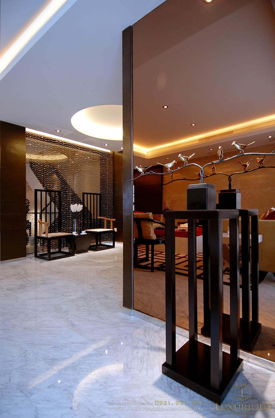 Mẫu thiết kế nội thất nhà lô phố 2 tầng 5x20m
