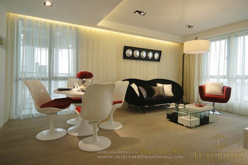 Thiết kế thi công nội thất nhà ống 4 tầng hiện đại
