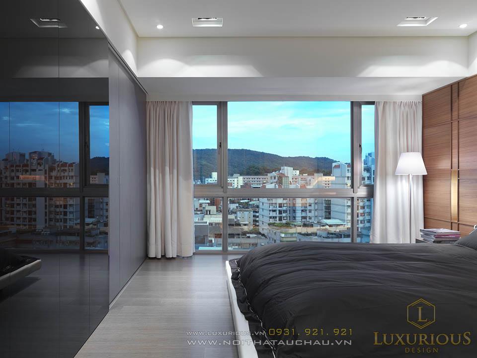 Thiết kế nội thất phòng ngủ nhà phố 2 tầng