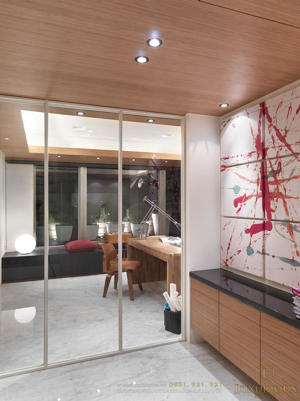 Thi công nội thất nhà phố 2 tầng 5x15m hiện đại, năng động