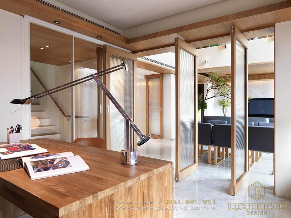 Thi công nội thất nhà phố 2 tầng 5x15m hiện đại hà nội