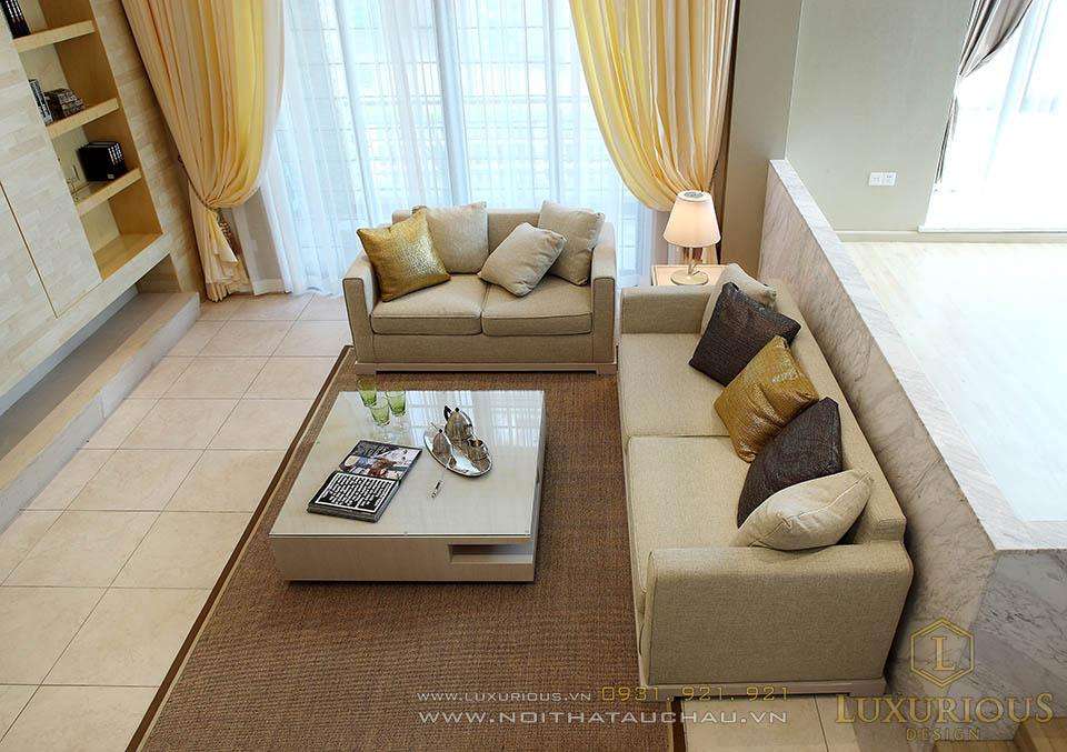 Thiết kế nội thất phòng khách hiện đại nhà phố