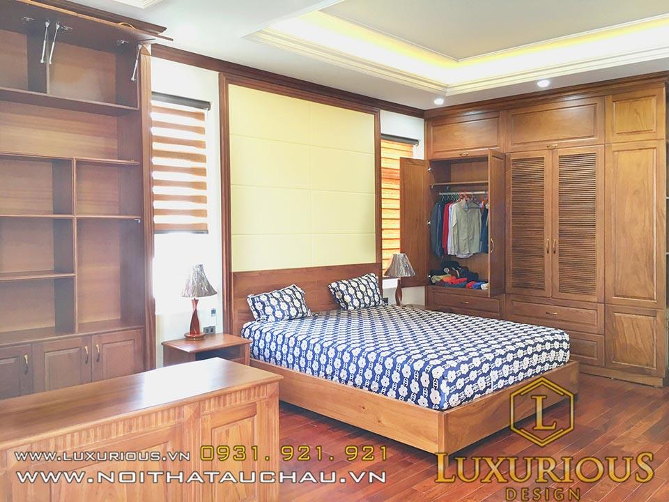 Phòng ngủ gỗ gõ đỏ