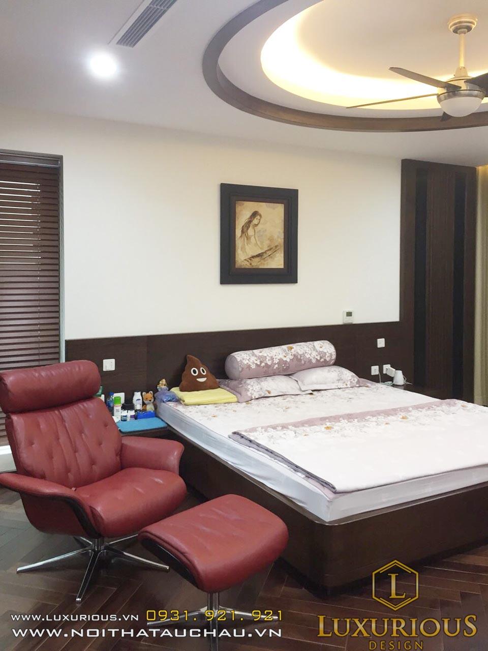 Nội thất phòng ngủ biệt thự Vinhomes Hoa Phượng