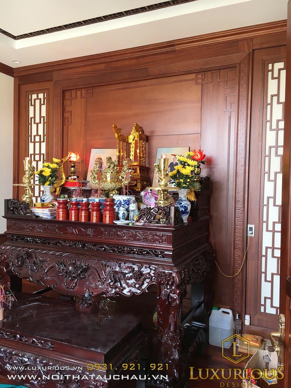 Phòng thờ biệt thự tân cổ điển