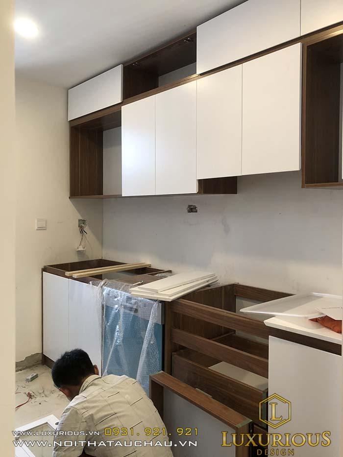 Thi công tủ bếp chung cư