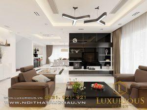 Mẫu thiết kế nội thất phòng khách nhà biệt thự Ecopark Vườn Mai anh Lê