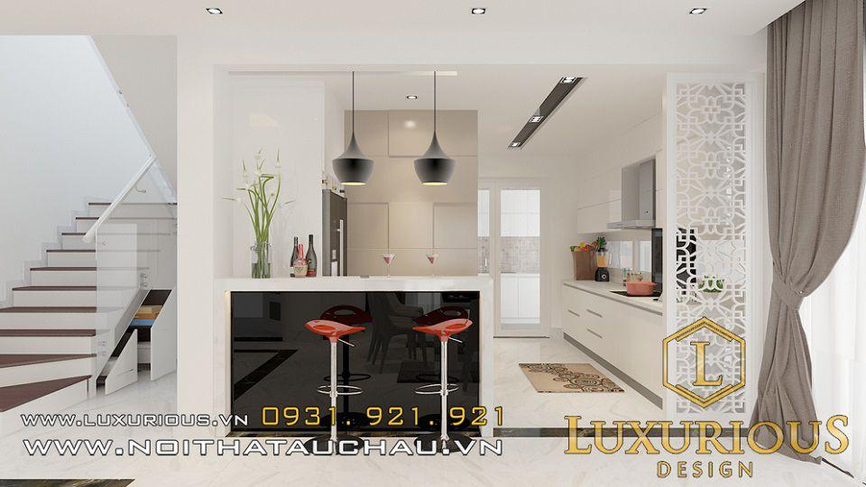 Thiết kế phòng bếp biệt thự Ecopark Vườn Mai