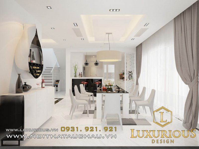 Thiết kế nội thất phòng ăn nhà biệt thự Ecopark