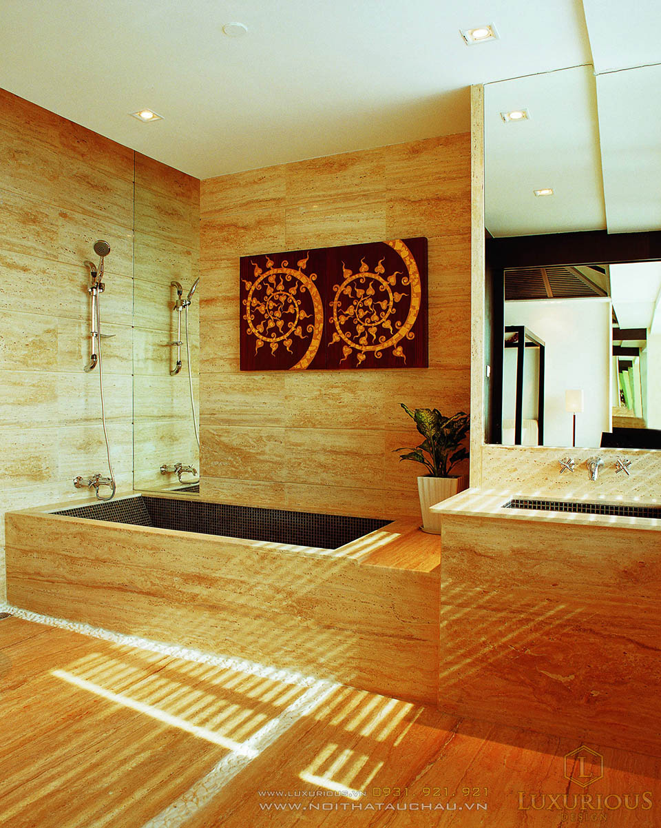 Thiết kế nội thất phòng tắm nhà chung cư cao cấp