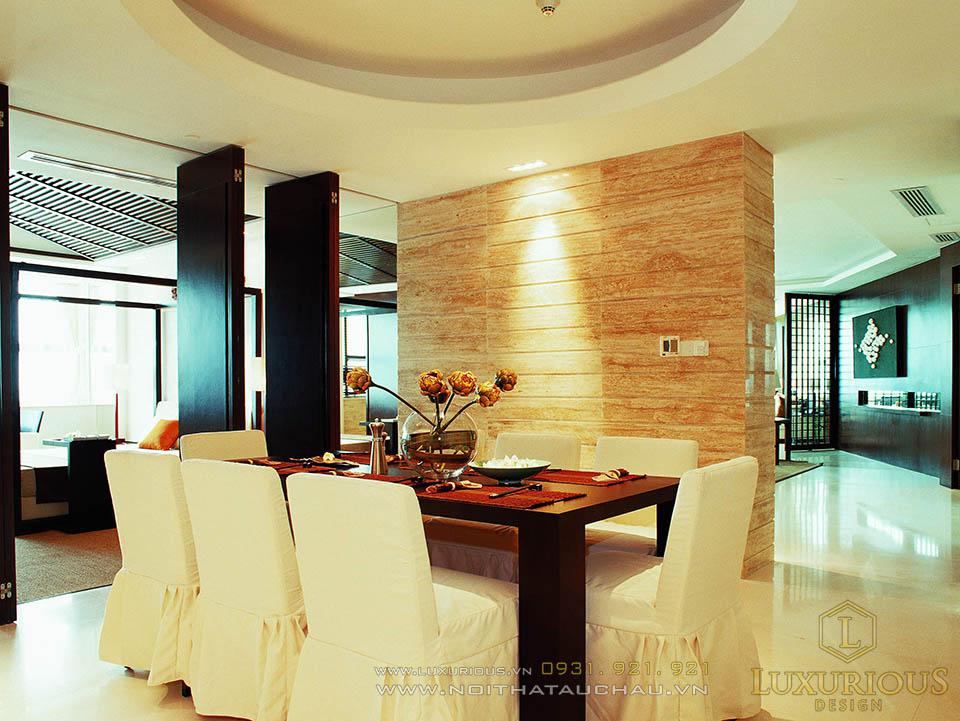 Thi công nội thất phòng ăn chung cư cao cấp