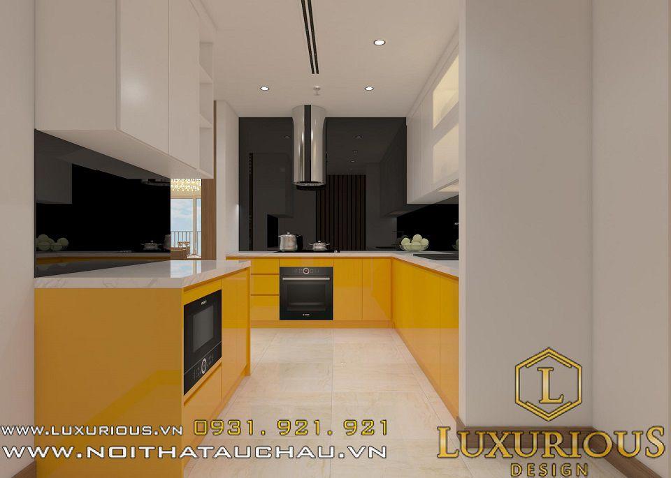 Thiết kế nội thất phòng bếp chung cư mini