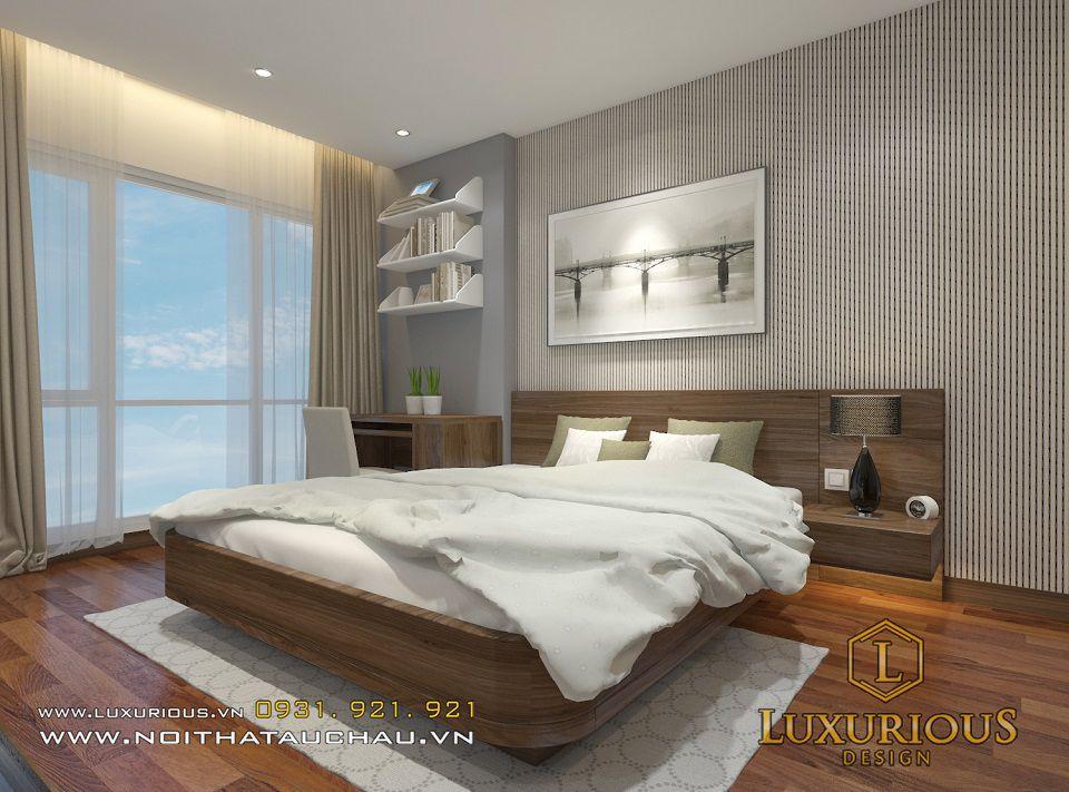 Phòng ngủ với màu sắc sang trọng, giúp chủ nhân có giấc ngủ ngon và sâu hơn