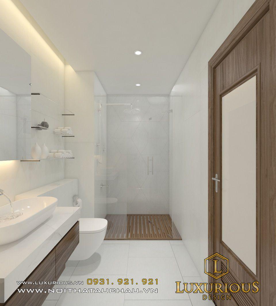 Thiết kế nội thất phòng tắm tiện nghi với các thiết bị vệ sinh cao cấp
