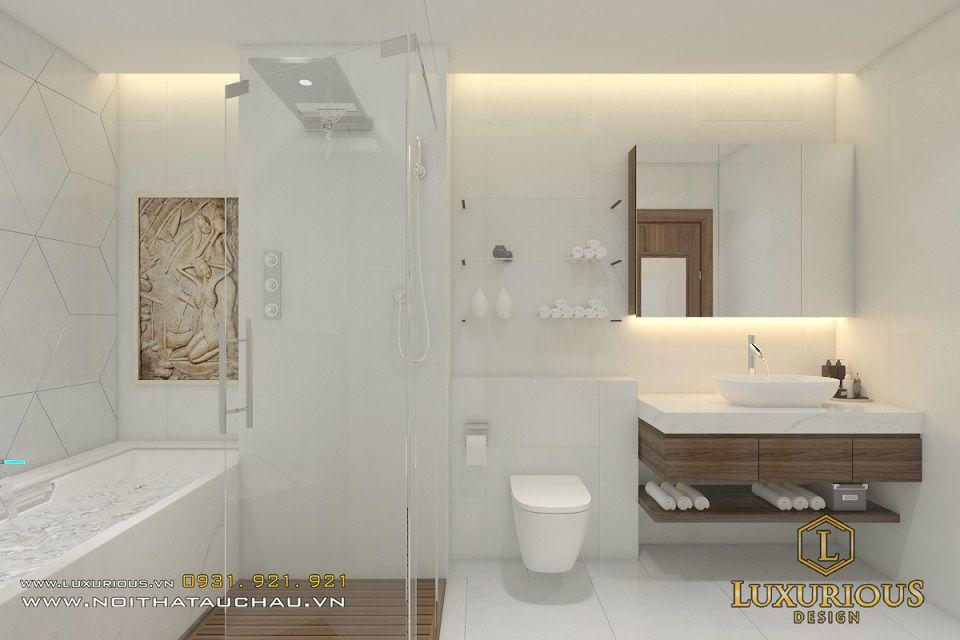 Thiết kế nội thất phòng tắm nhà chung cư sang trọng