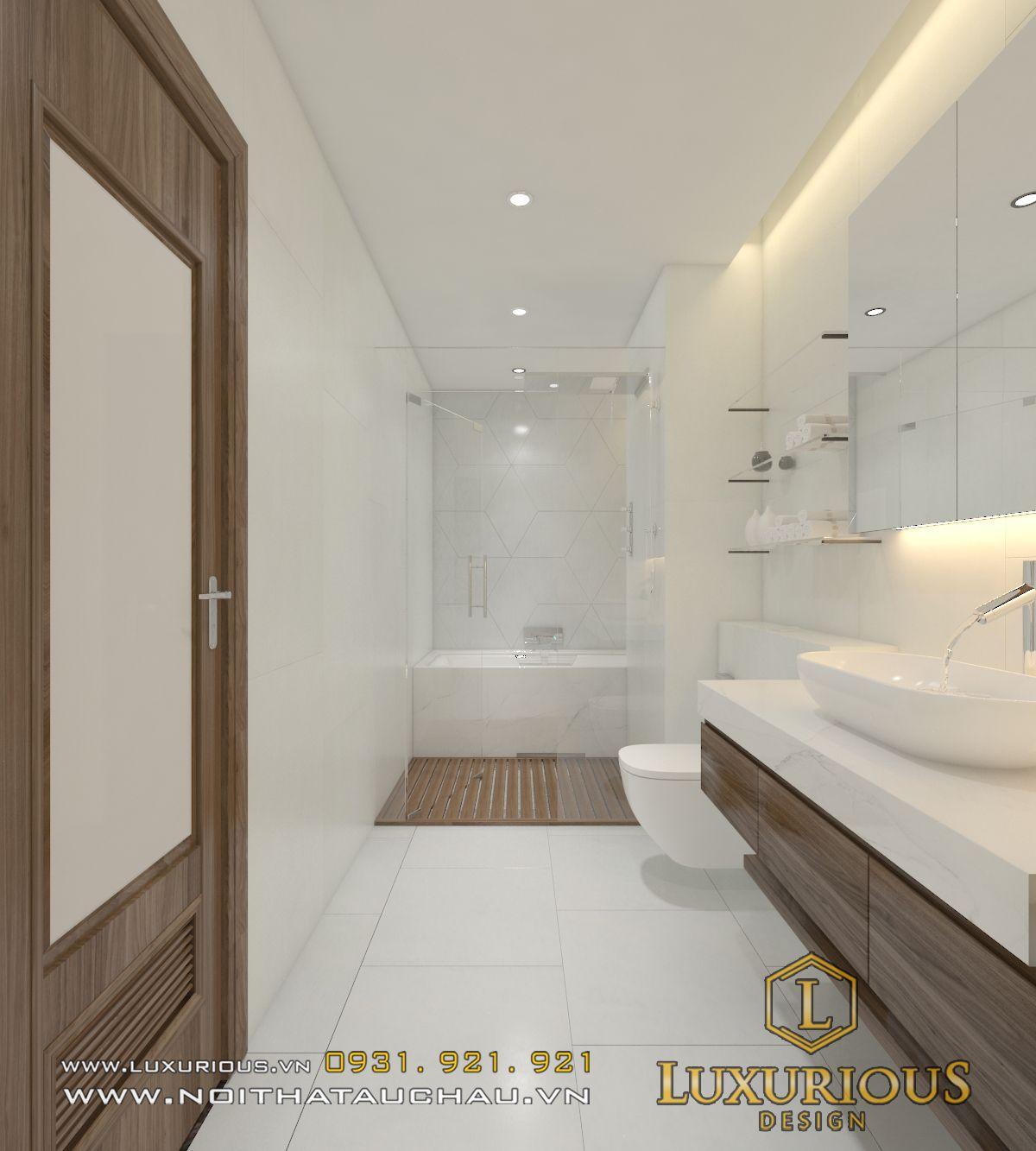 thiết kế nội thất phòng tắm nhỏ đẹp tiện nghi