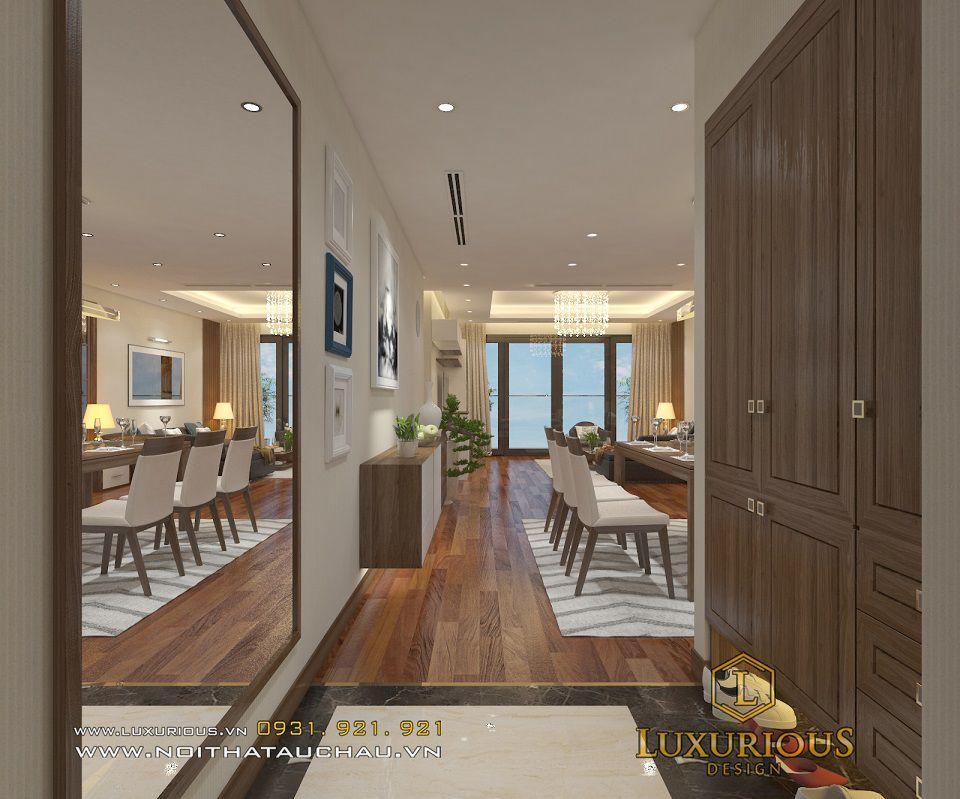 Thiết kế nội thất phòng ăn chung cư Mandarin