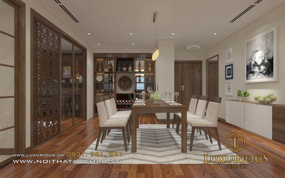 Thiết kế nội thất phòng ăn chung cư Mandarin 1