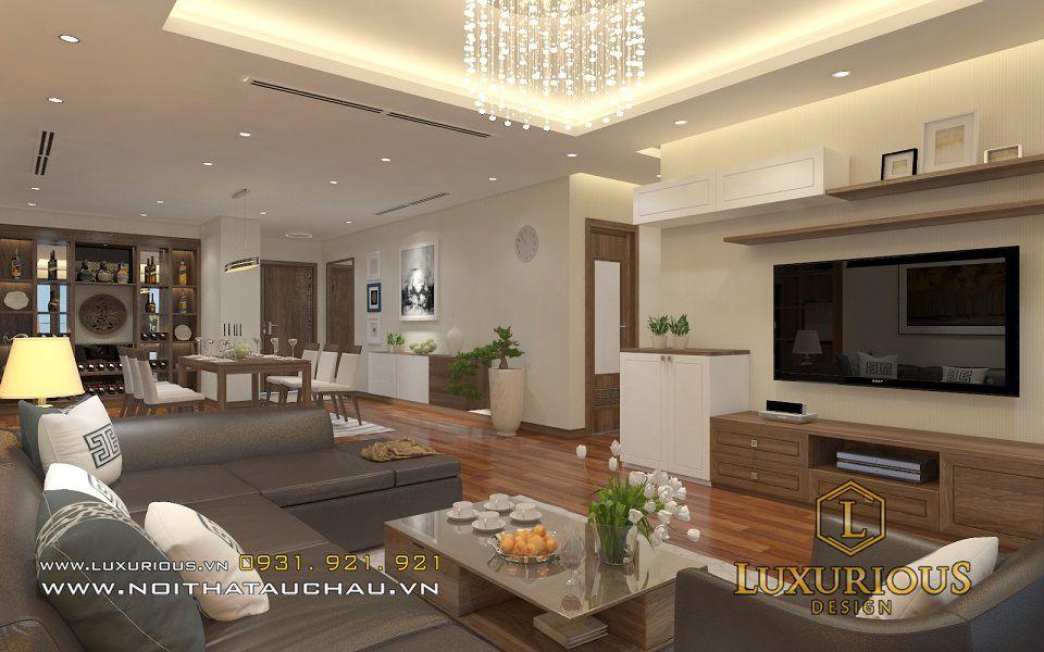 Thiết kế nội thất phòng khách chung cư Mandarin