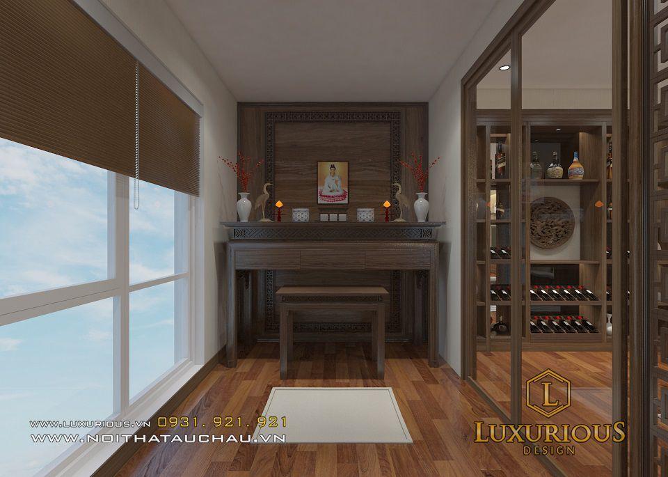 Phòng thờ nhà chung cư Mandarin trang nghiêm, phong thủy