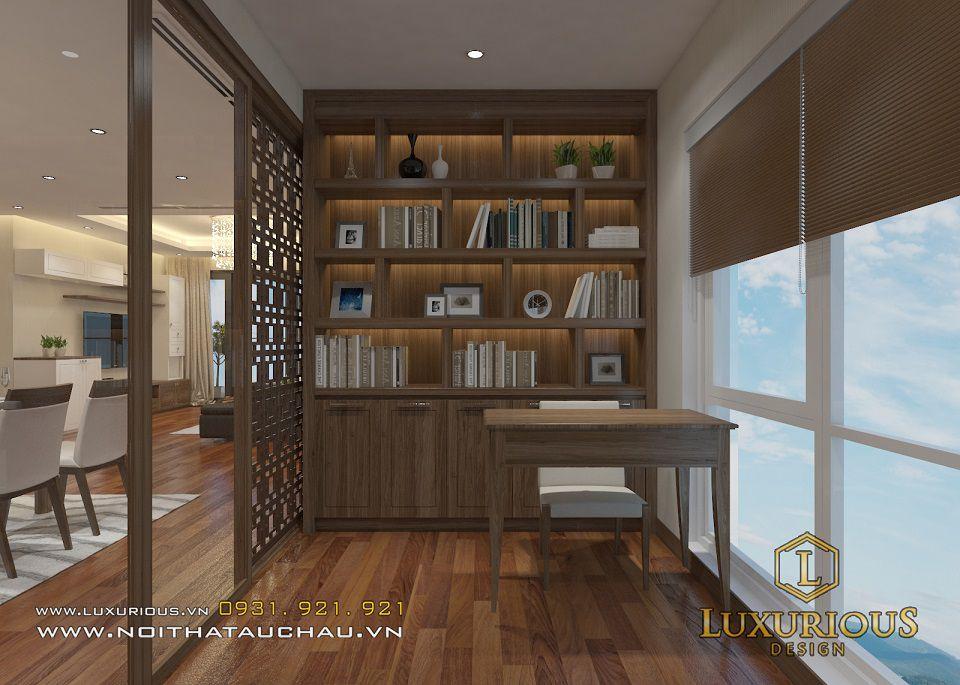 Thiết kế nội thất phòng đọc sách nhà chung cư