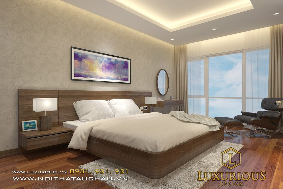 Thiết kế nội thất phòng ngủ chung cư Mardarin ấm cúng thư giãn