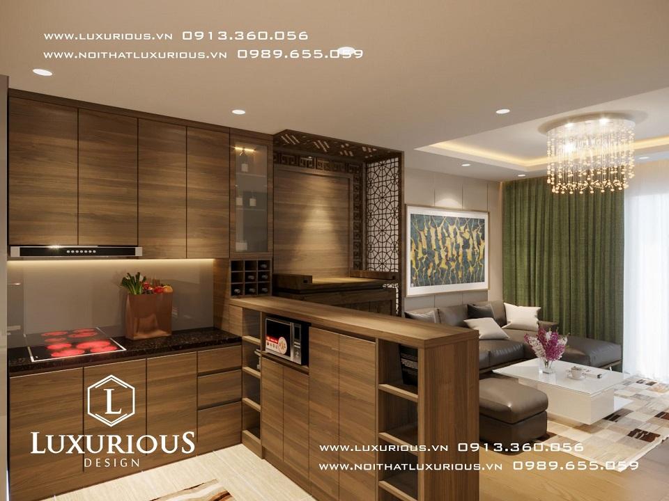 Thiết kế nội thất phòng hiện đại tiện nghi
