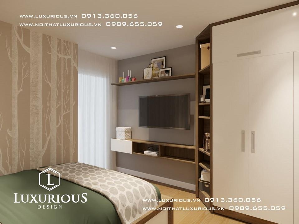 Thiết kế nội thất phòng ngủ nhà chung cư The Garden Hill