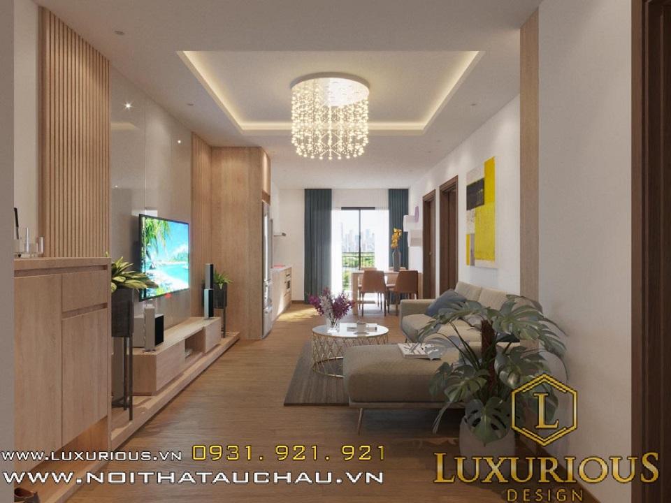 Thiết kế nội thất chung cư Hateco anh Tuấn