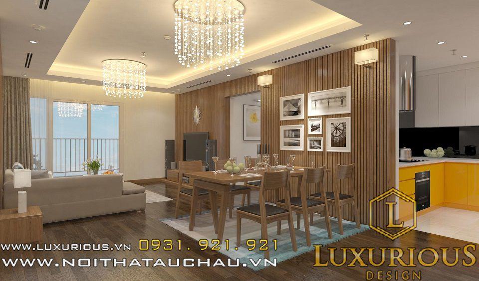 Thiết kế nội thất phòng ăn nhà chung cư Mandarin