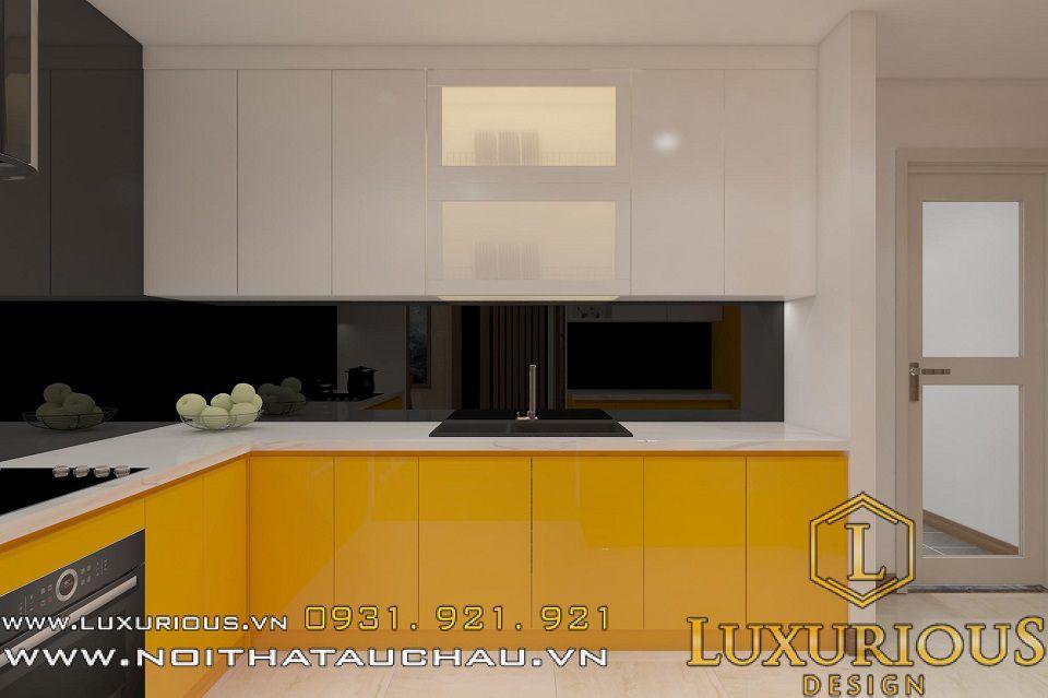 Thiết kế nội thất phòng bếp nhà chung cư Mandarin