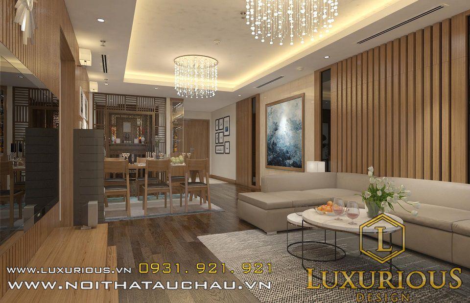 Thiết kế nội thất chung cư Mandarin 70m2