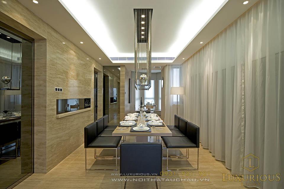 Mẫu thiết kế nội thất phòng ăn sang trọng ấm cúng