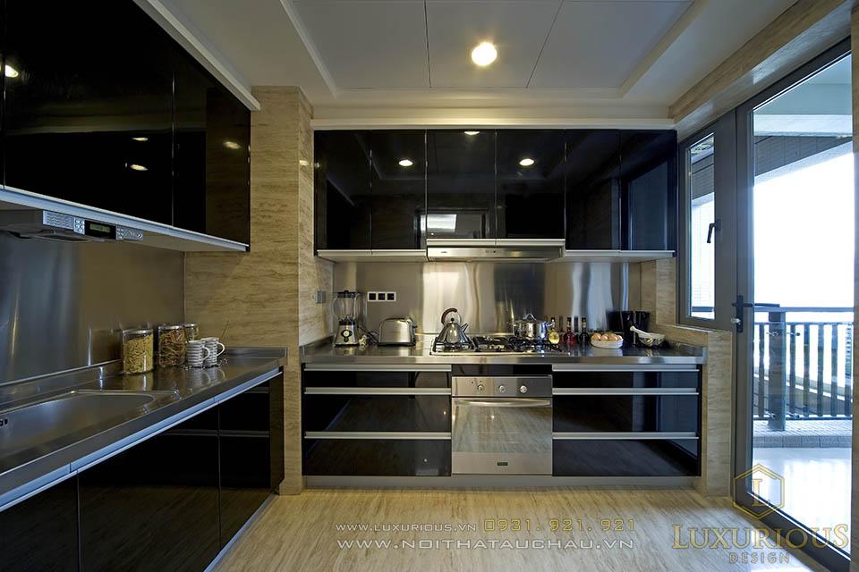 Thiết kế thi công nội thất phòng bếp nhà chung cư 120m2