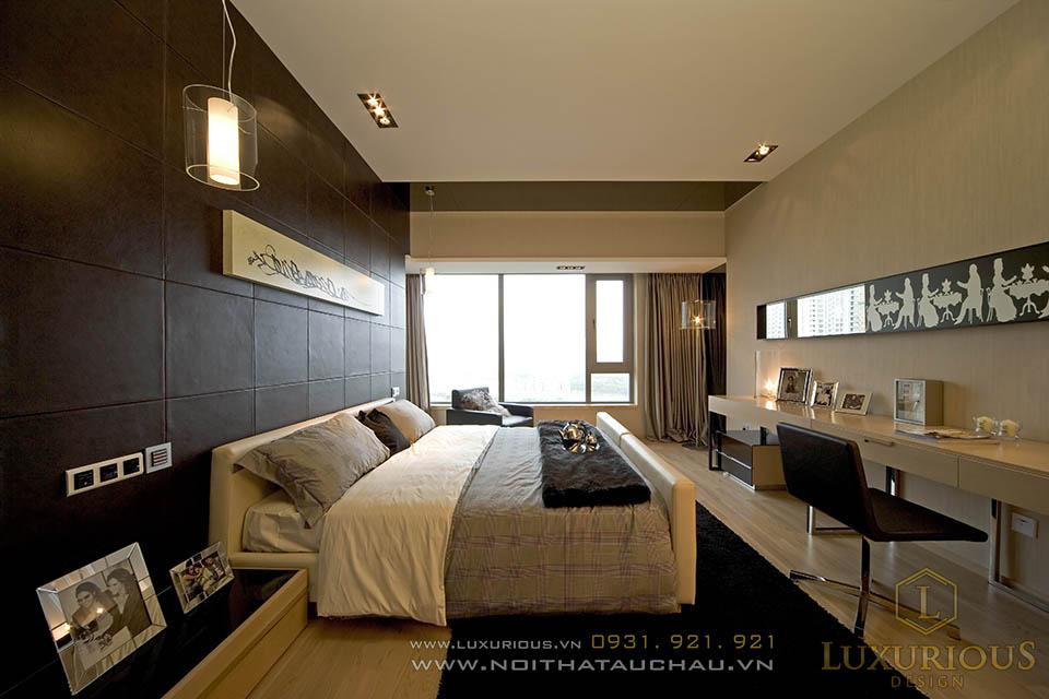Phòng ngủ nhà chung cư cao cấp sang trọng