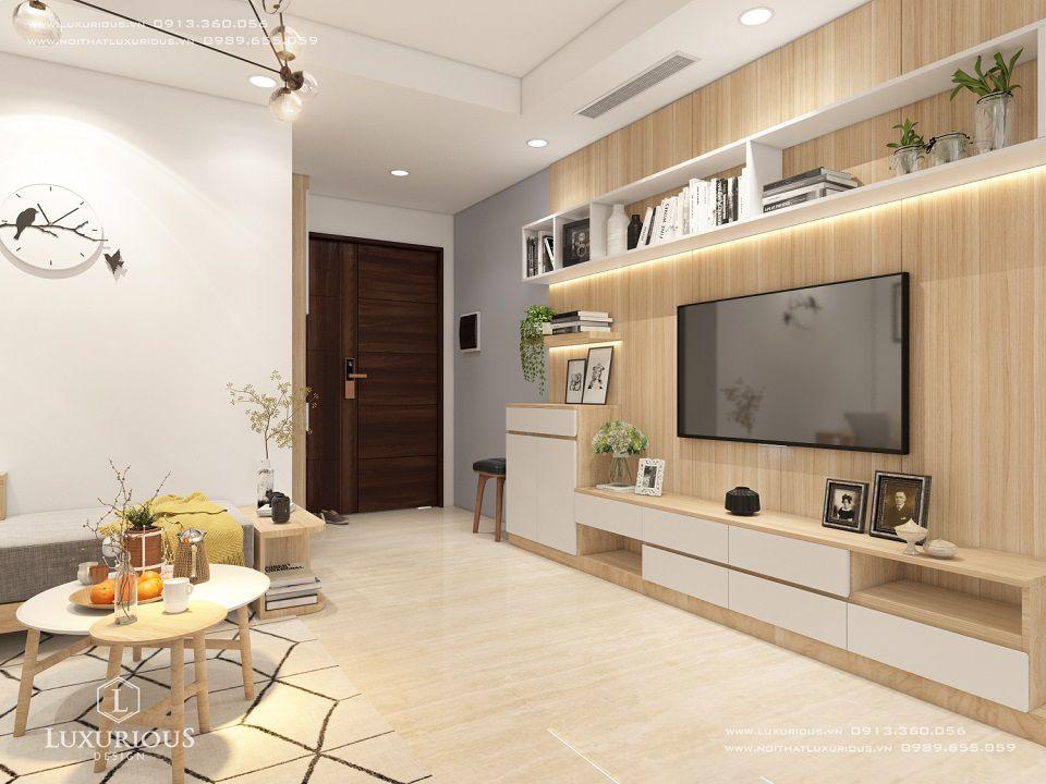 Thiết kế nội thất phòng khách nhà chung cư Centrepoint