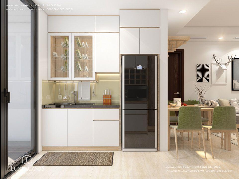 Thiết kế nội thất phòng bếp nhà chung cư cao cấp Centreponit