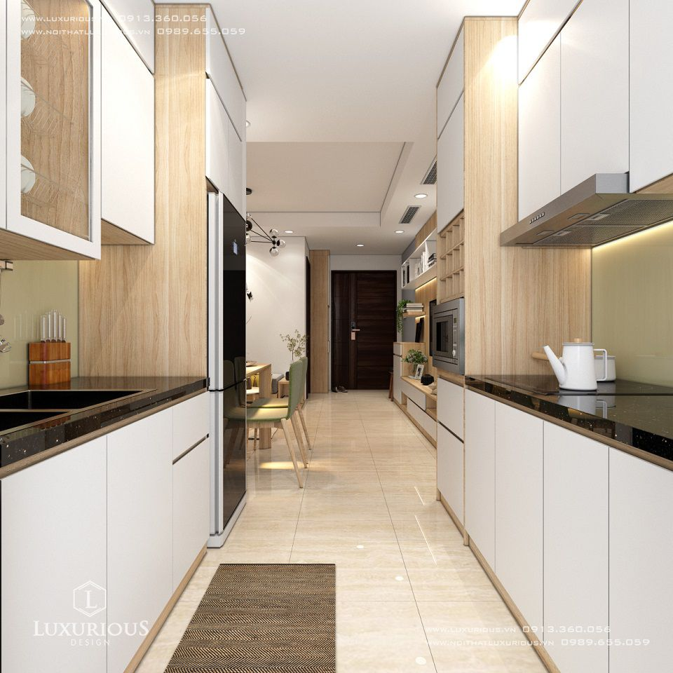 Phòng bếp căn hộ chung cư Centrepoint đầy đủ tiện nghi