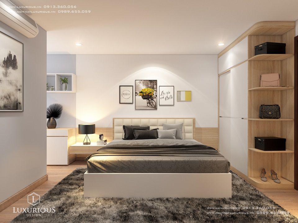 Mẫu thiết kế nội thất phòng ngủ chung cư cao cấp
