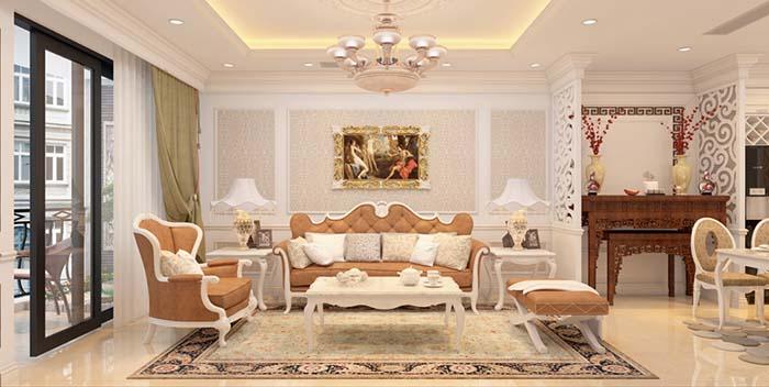 Thiết kế nội thất chung cư diện tích nhỏ phong cách tân cổ điển