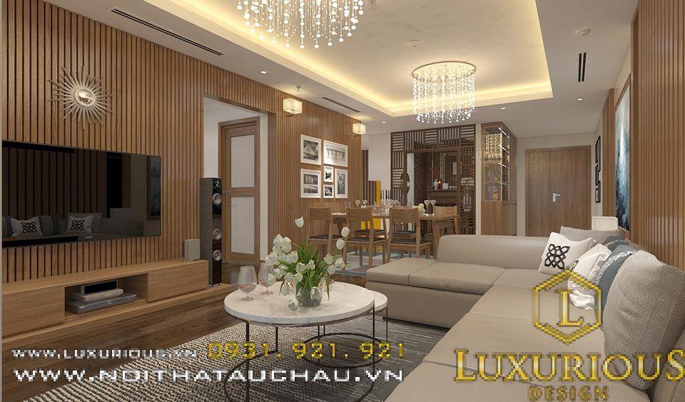 Mẫu thiết kế nội thất phòng khách nhà chung cư hiện đại