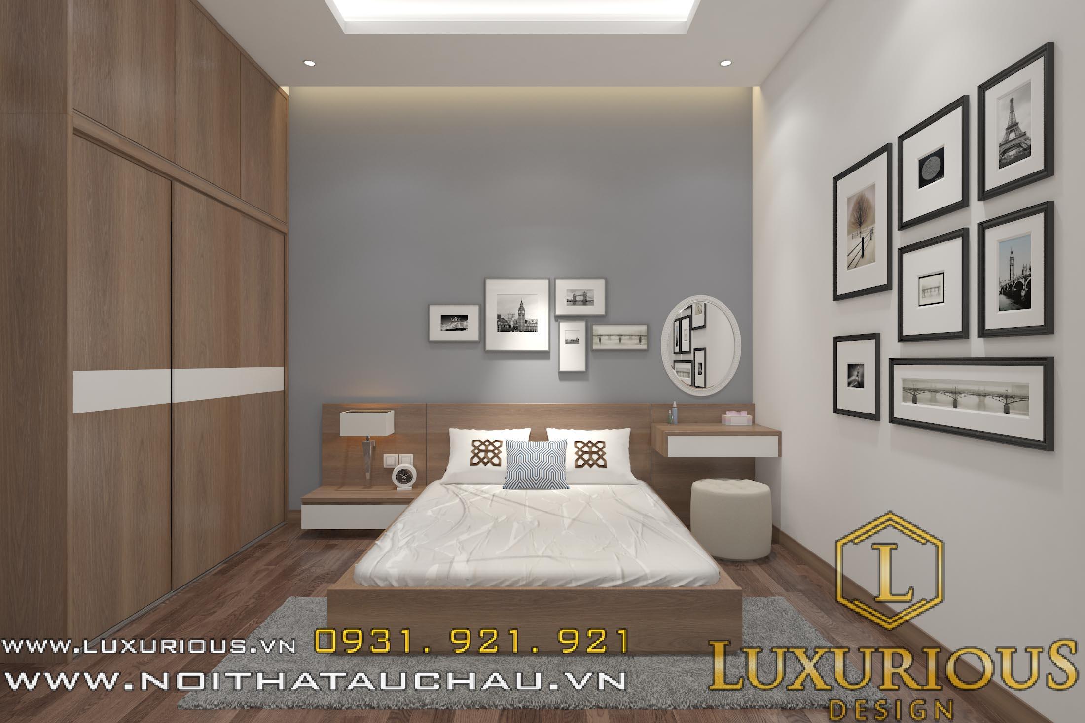 Mẫu thiết kế nội thất phòng ngủ cho bố mẹ